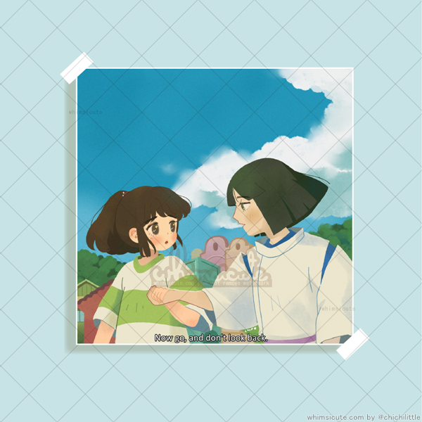 Chihiro and Haku - Don't Look Back Print 5in x 5in