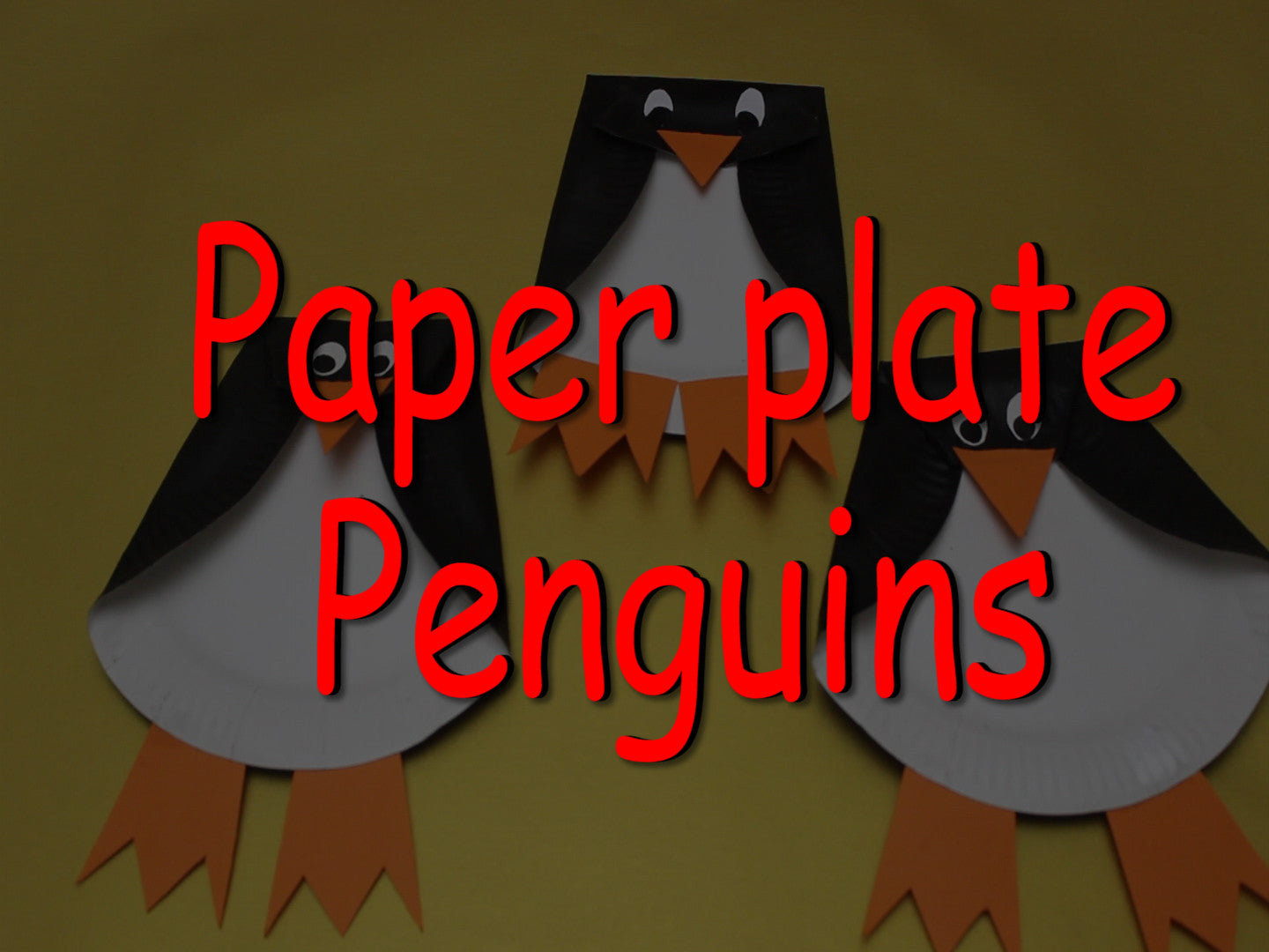 Kids Craft: Paper Plate Penguin