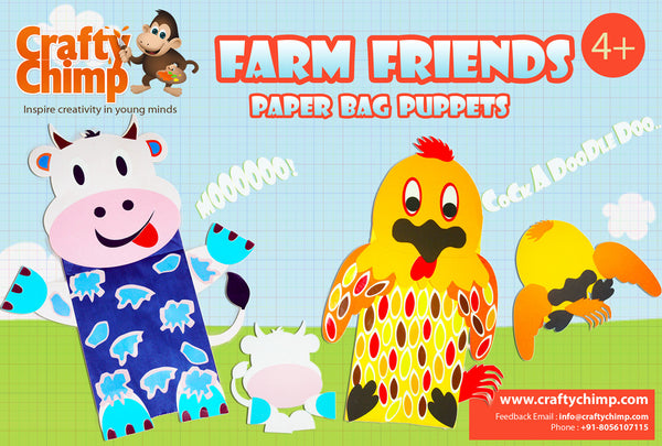 Farm Friends - Paper Bag Puppets
