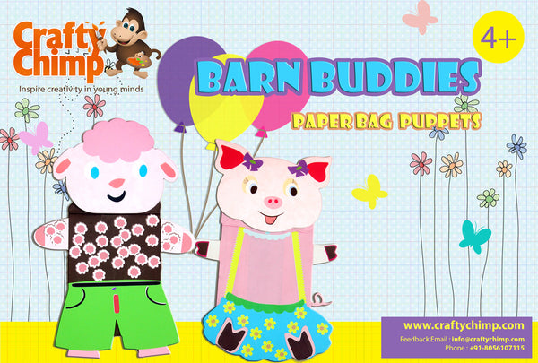 Barn Buddies - Paper Bag Puppets - CraftyChimp - 1