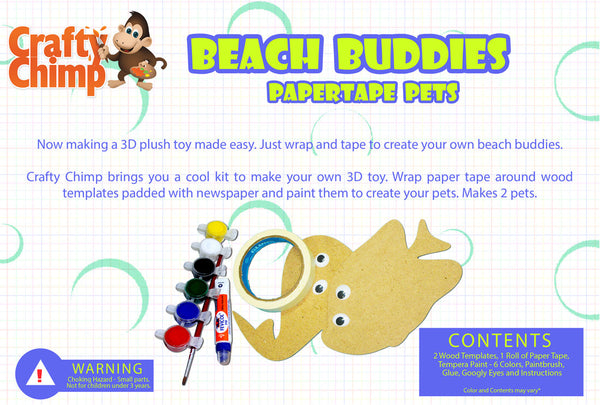 Paper Tape Pets - Beach Buddies