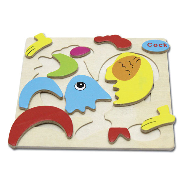 Wooden Puzzle - Rooster