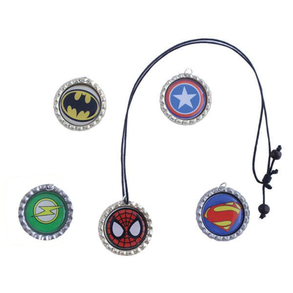 Super Hero Bottle Cap chains