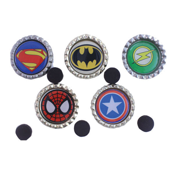 Super Hero Bottle Cap Fridge magnets