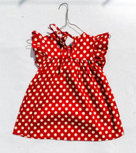 Load image into Gallery viewer, Red Polka Dot Dress - ELAN KIDS BOUTIQUE