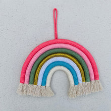 Load image into Gallery viewer, Nordic Handmade Woven Rainbow Wall Decoration. - ELAN KIDS BOUTIQUE