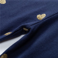 Load image into Gallery viewer, Gold hearts navy leggings - ÉLAN KIDS BOUTIQUE