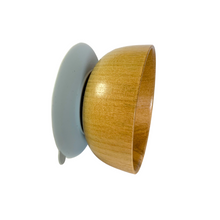 Load image into Gallery viewer, Infant & toddlers suction wooden mini bowl - Grey - ELAN KIDS BOUTIQUE