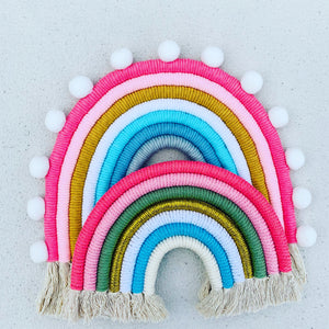 Nordic Handmade Woven Rainbow Wall Decoration. - ELAN KIDS BOUTIQUE