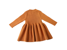 Load image into Gallery viewer, Tan long sleeve knit dress - ELAN KIDS BOUTIQUE