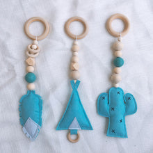 Load image into Gallery viewer, Baby Sensory Activity Gym Wooden Rings - ELAN KIDS BOUTIQUE