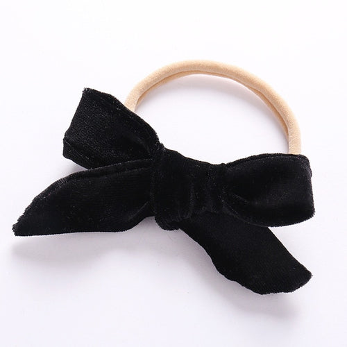 Velvet bow knot headband - ELAN KIDS BOUTIQUE