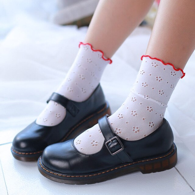 Cut-out Lace Ankle Socks - Sock. Paper. Scissors.