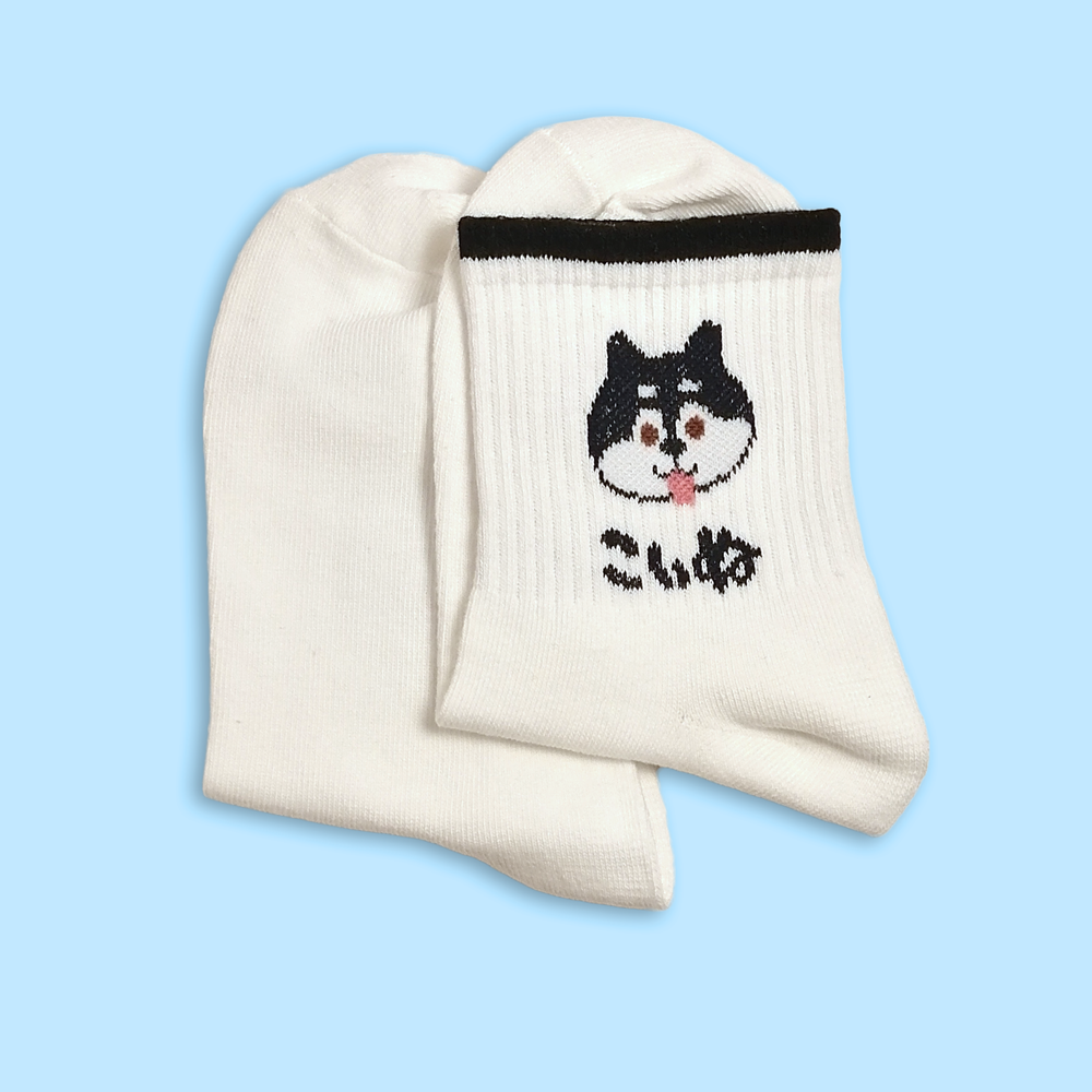 Inu Puppy Black Shiba Ankle Socks - Sock. Paper. Scissors.