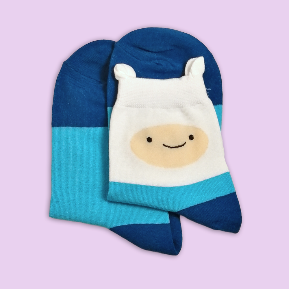 Adventure Time / Finn Ankle Socks - Sock. Paper. Scissors.