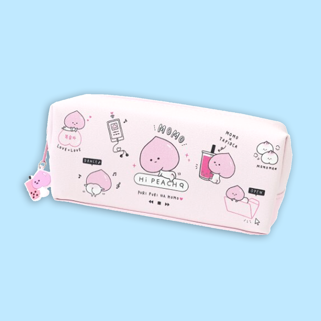 Peach / Momo Pencil Case - Sock. Paper. Scissors.