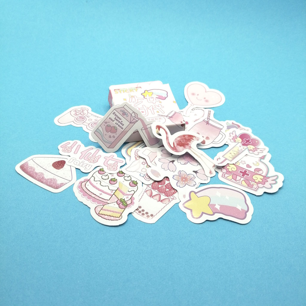 "Pink ""Miss Time"" Sticker Pack - Sock. Paper. Scissors."