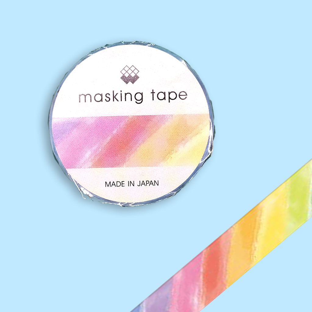Watercolour Rainbow Washi Tape - Sock. Paper. Scissors.