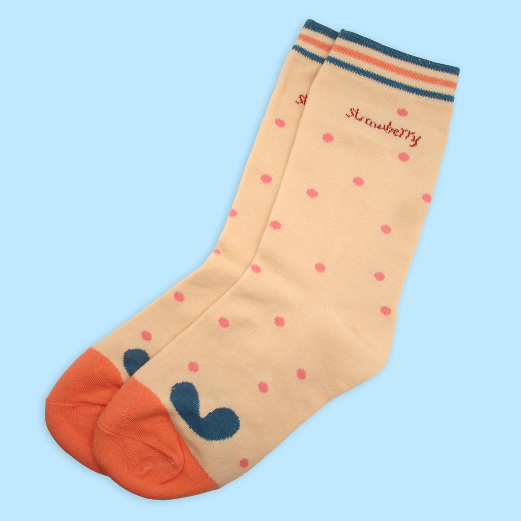 Strawberry Seeds Ankle Socks - Sock. Paper. Scissors.