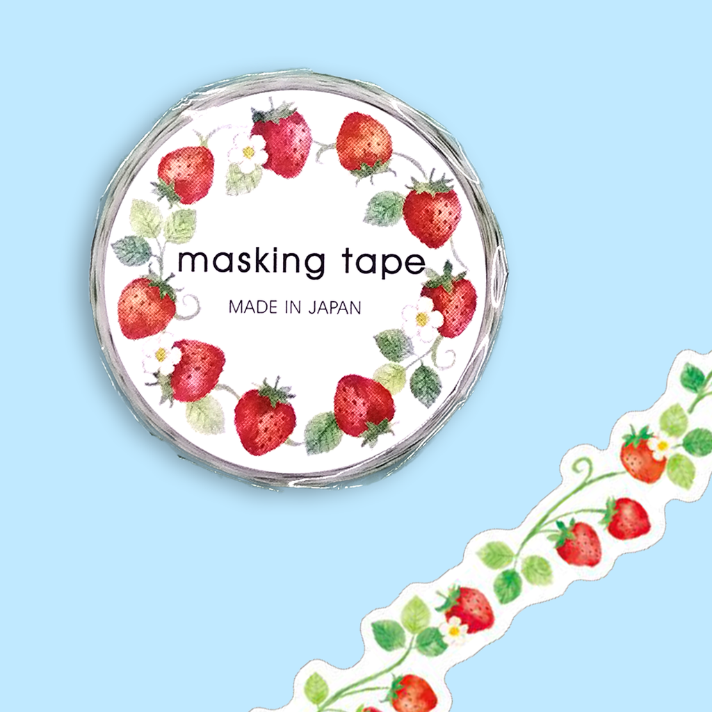 Die Cut Strawberry Washi Tape - Sock. Paper. Scissors.