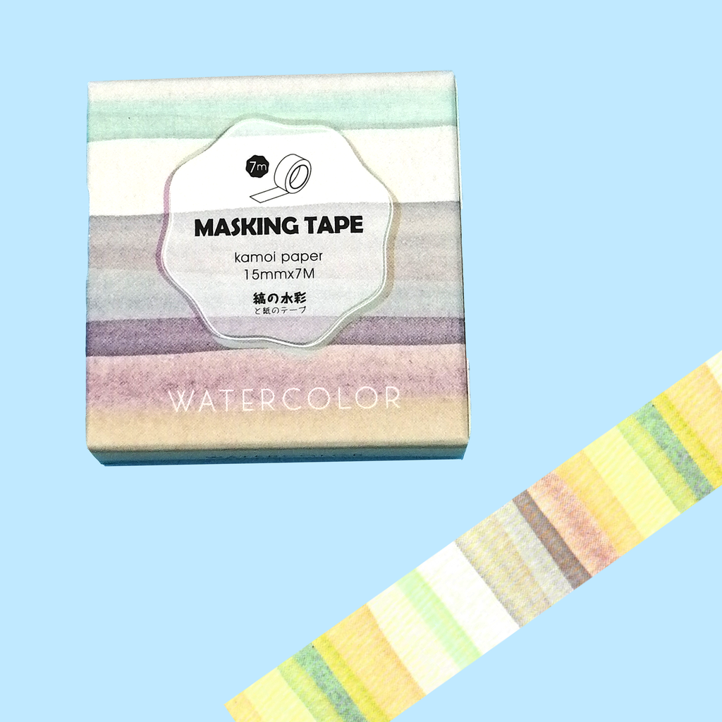 Watercolour Stripes Washi Tape - Sock. Paper. Scissors.