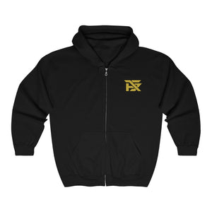 Unisex Zip Hoodie Classic Funk Chest Patch Gold
