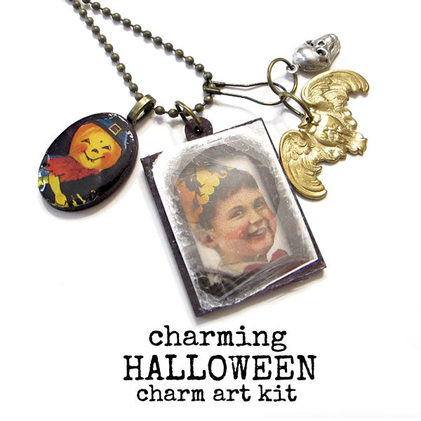 New! Charming Halloween Charm Art Kit