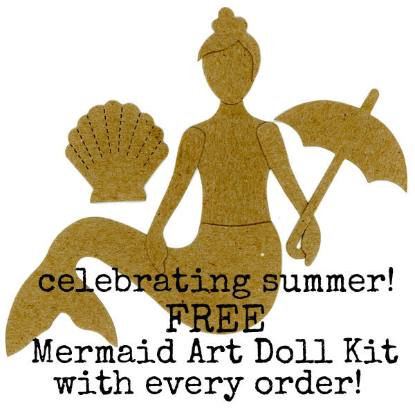Free Mermaid Art Doll Kit with Every Order!