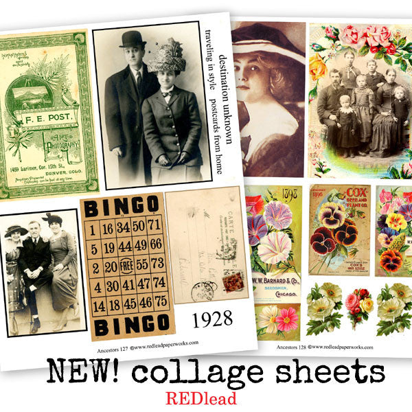 New Ancestor Collage Sheets