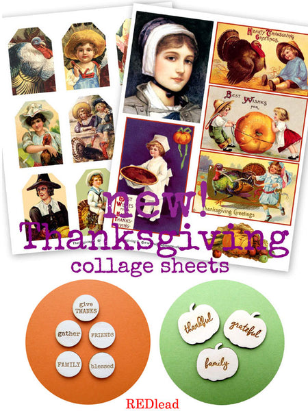 New Thanksgiving Collage Sheets