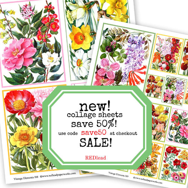 Beautiful New Collage Sheets - Save 50%