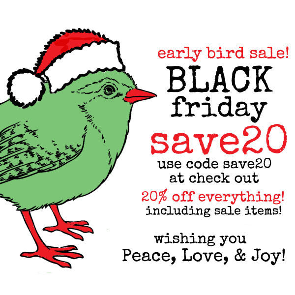 Early Bird Black Friday Sale! Save 20% on Everything!