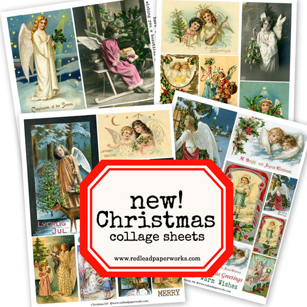 New Angel Christmas Collage Sheets