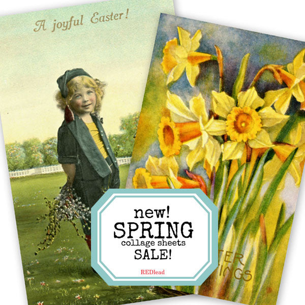 Beautiful New Spring Collage Sheets