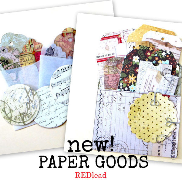 New Stitched Tags & Mini Parchment Envelopes
