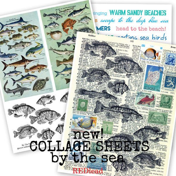 New Beach and By the Sea Collage Sheets