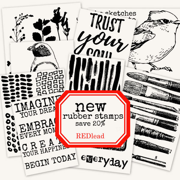 New Mixed Media Rubber Stamps