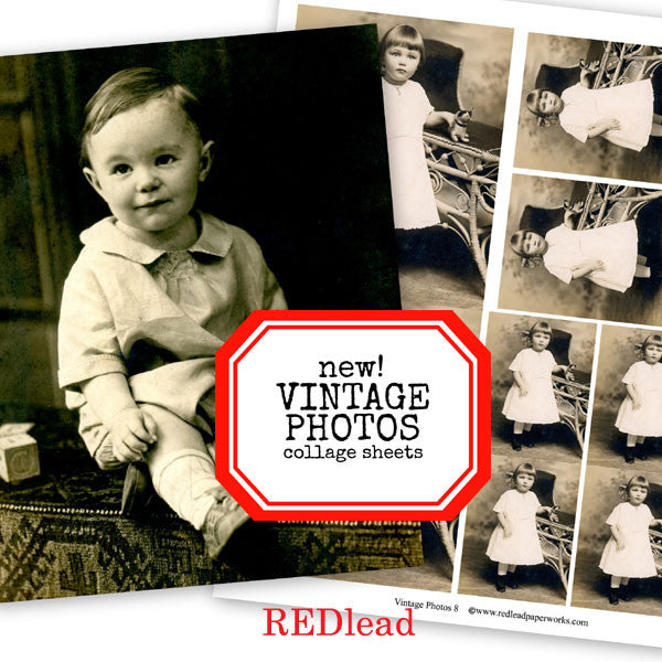 New Vintage Photo Collage Sheets