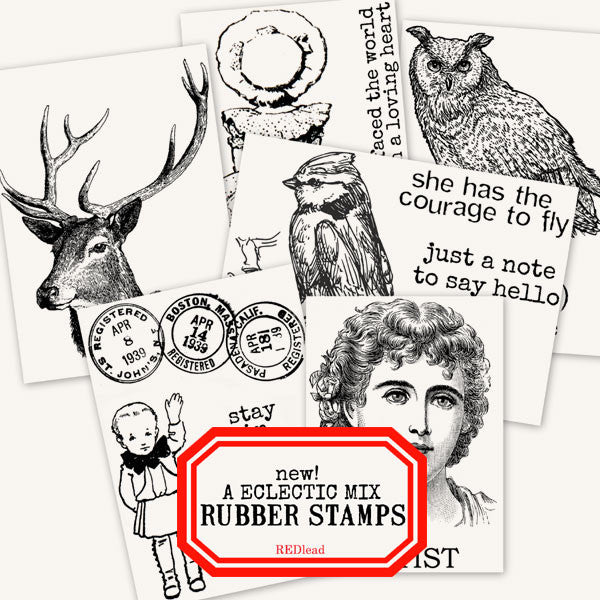 New Eclectic Mix of Rubber Stamps