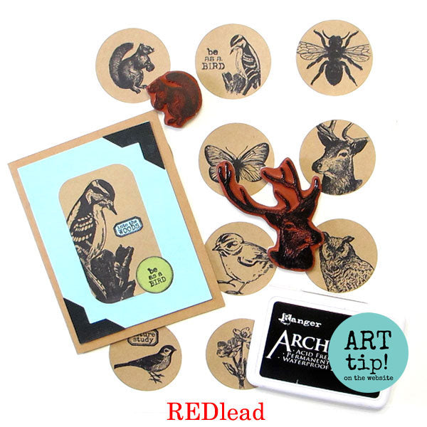Stamping on Stickers Art Tip