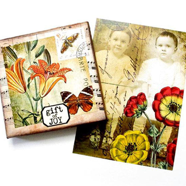 autumn inspired rubber stamps and collage sheets
