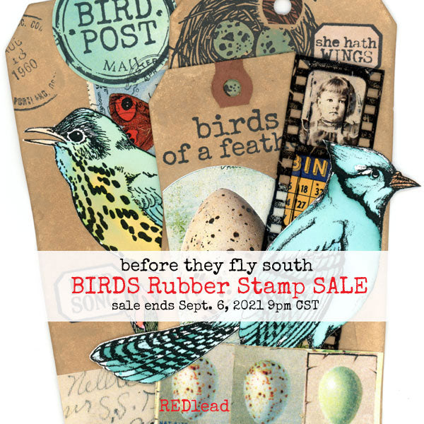 Birds Rubber Stamps