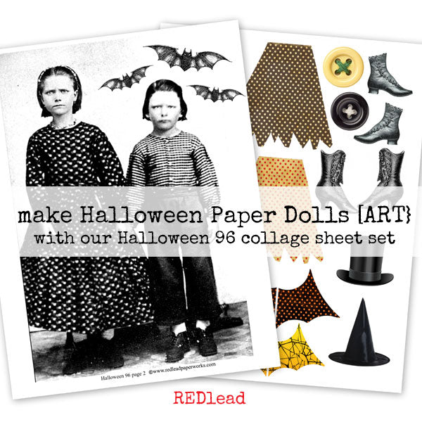 Halloween Paper Dolls Collage Sheets