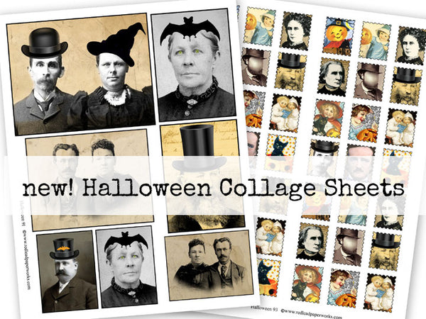 New Halloween Collage Sheets