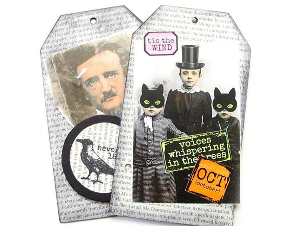 House of Poe Tag Book Art Kit