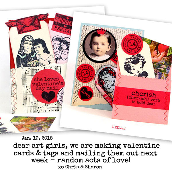 valentine cards and tags