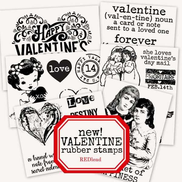 new valentine rubber stamps