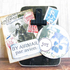 Art Wings Story Word Circle Rubber Stamp