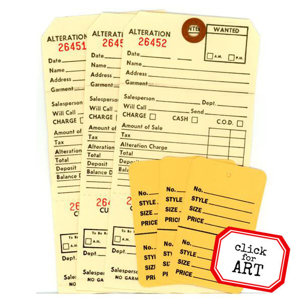 Alteration Paper Tag Set