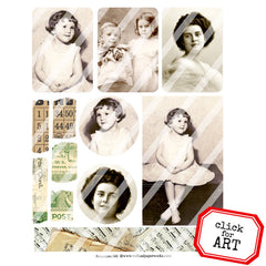 Ancestors 148 Collage Sheet